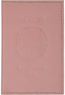 a66a3df8b430 Mexico Passport Cover Genuine Leather Travel Wallet with Credit Card ...