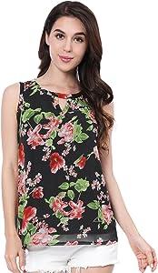 Giveaway: Allegra K Women's Floral Prints Keyhole Chiffon Sleeveless...