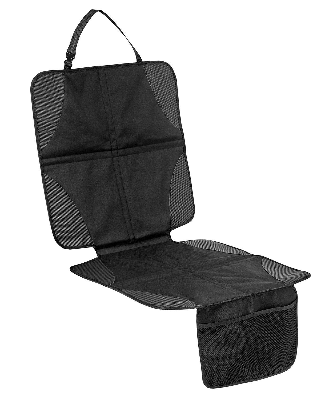 Filfia, Protège siège voiture pour siège auto bébé enfant, Noir avec poches de rangements