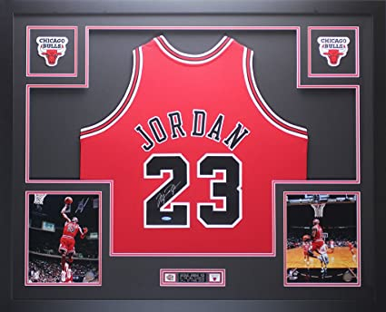 741a4c2858a Michael Jordan Autographed Red Bulls Jersey - Beautifully Matted and Framed  - Hand Signed By Michael