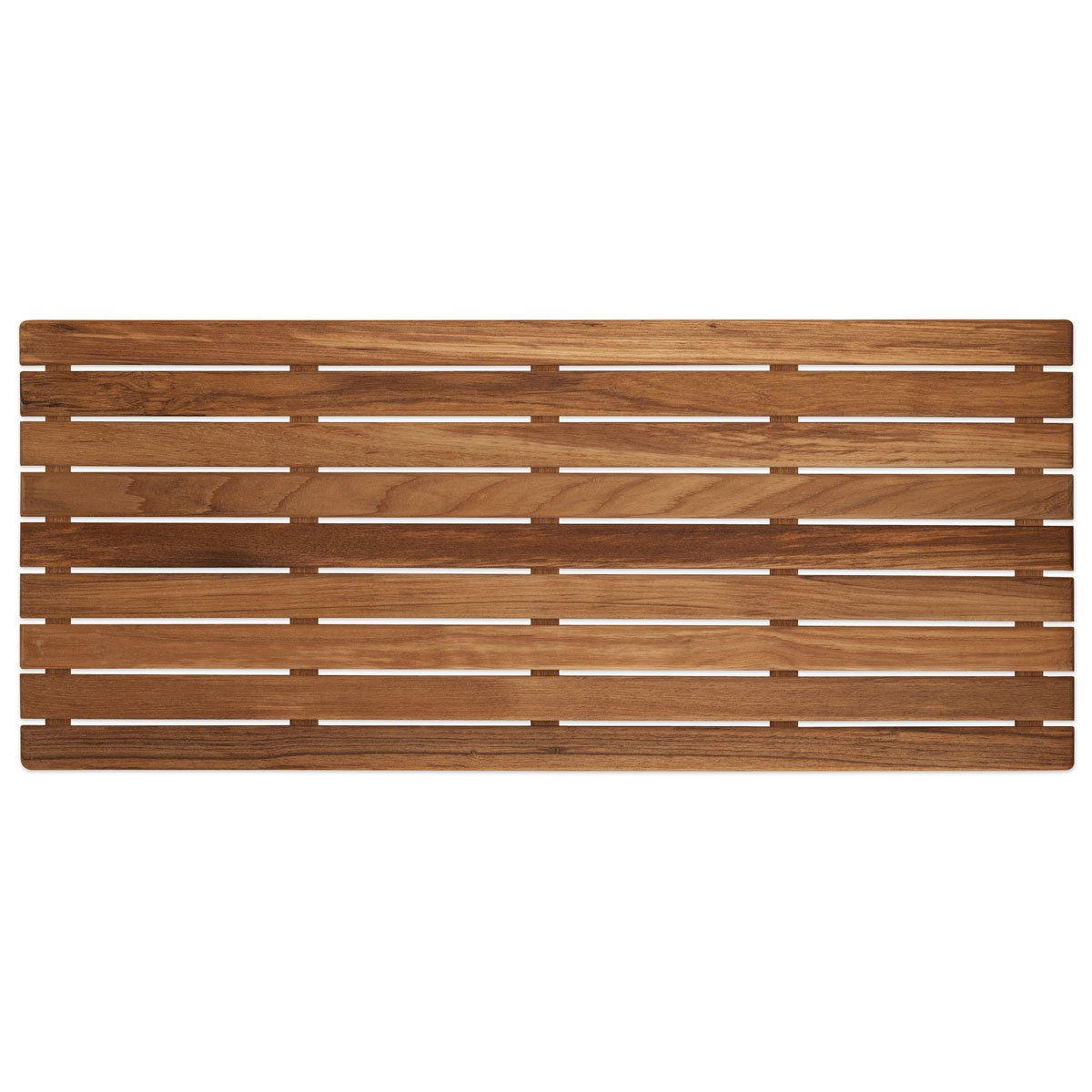 32'' x 14'' Plantation Teak Shower Mat | 1-1/4'' High | Slip-Resistant Surface by Teakworks4u