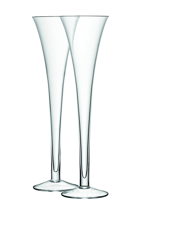 LSA International - Pack de 2 Copas Tipo Flauta de 225 ML, Transparente G302-08-991