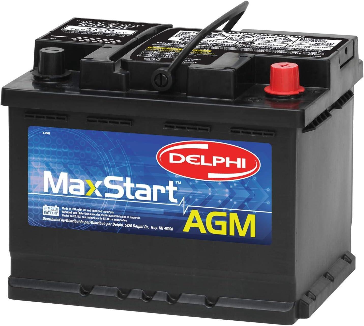Delphi BU9047 MaxStart AGM Premium Automotive Battery, Group Size 47: Automotive