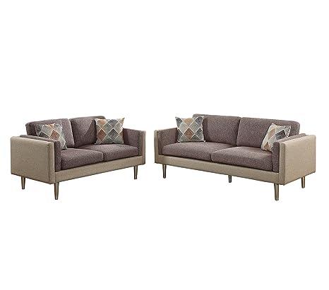 Amazon.com: poundex f6556 bobkona sofá y Loveseat Alwin ...