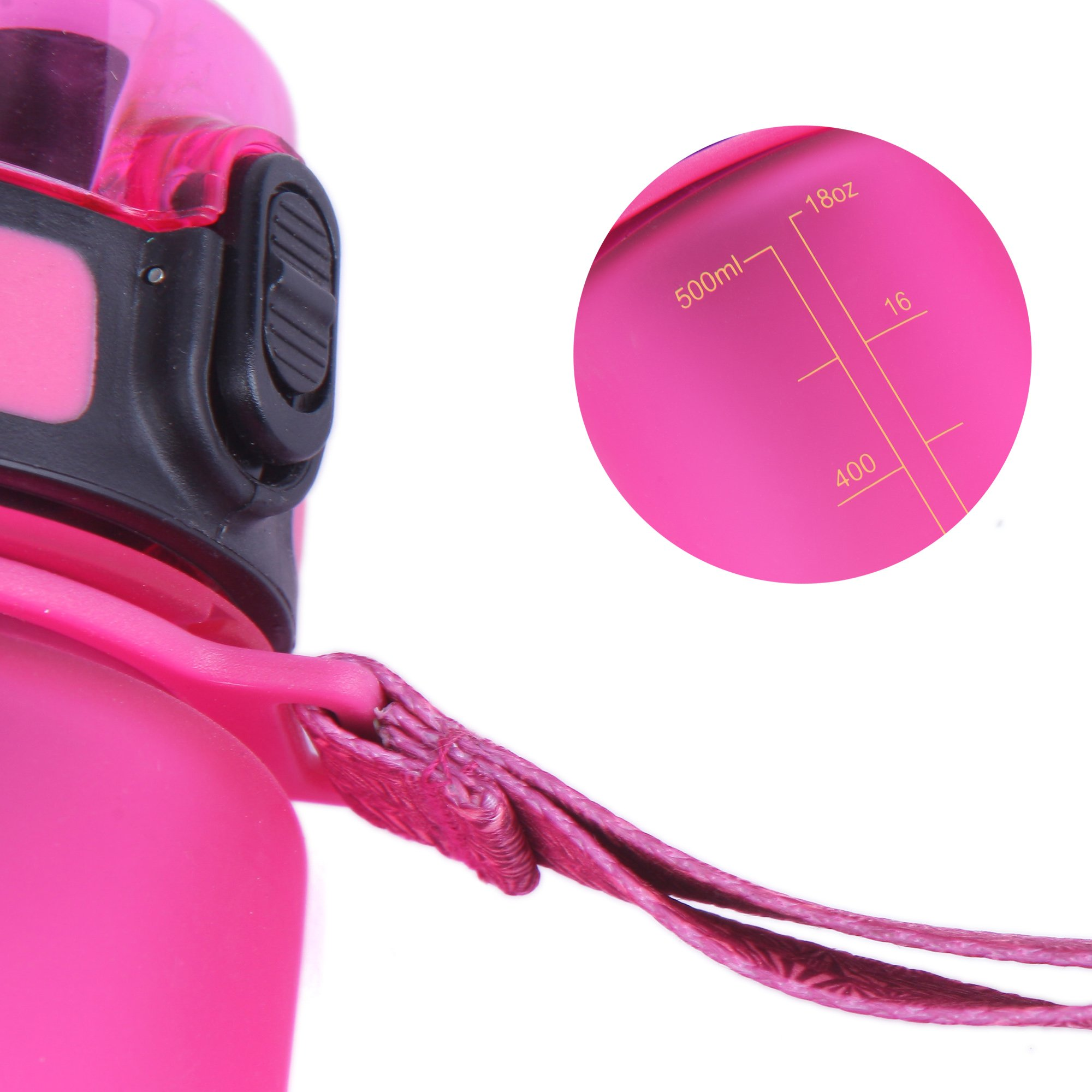 KingCamp 17.7oz / 500ml Pink TRITAN Wide Mouth Outdoor Sports Water Bottle