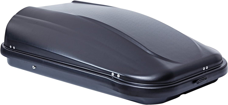 VDP ROOF BOX JUPRE320/Glossy Black Lockable 320/litre Menabo Tema Roof Girder for Hyundai Kona SUV 5/Door Hatchback from 2017/Aluminium