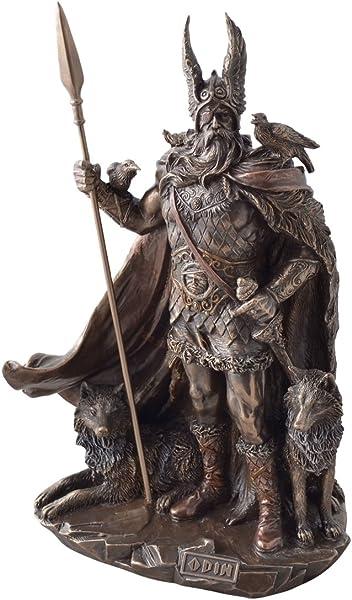 Statua del dio germanico odino, bronzata, 2011