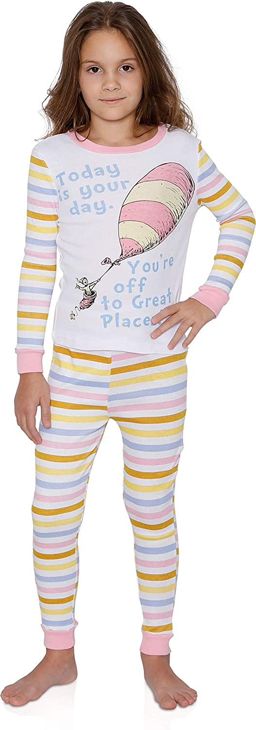 Seuss Girls Cat in The Hat Check Meowt Pajama Set Dr