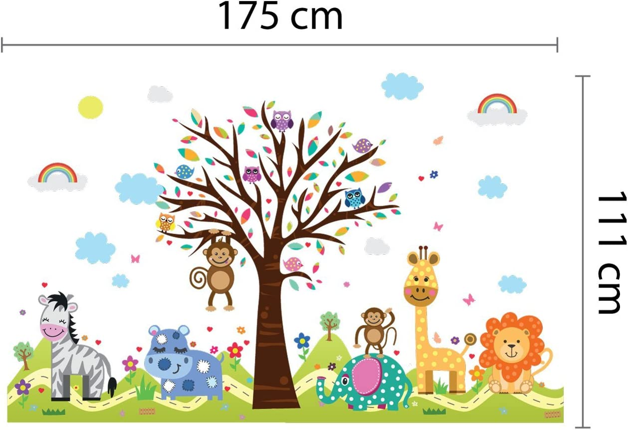 IRICEYE Acrylic Tree Sprouts Heart Height Chart Wall Sticker Kid Bedroom Decal Decor