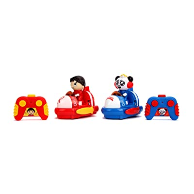 Jada Ryan's World Bumper Cars Twin Pack Full Function Rc, Combo Panda & Ryan: Toys & Games