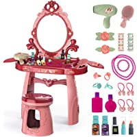Meland Toddler Vanity Set - Kids Toy Vanity Table for Little Girls with Sound and Light Mirror and Beauty Accessories…