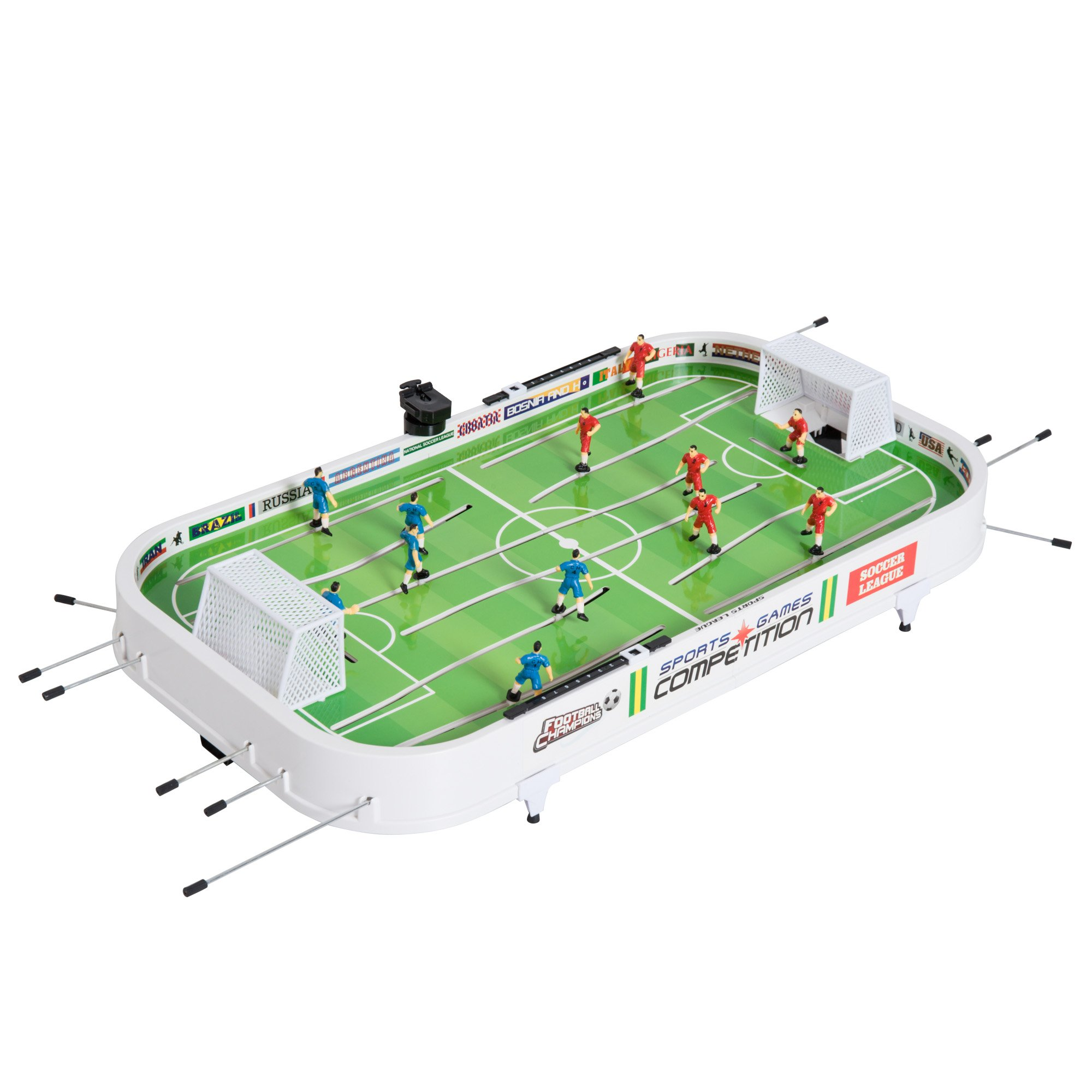 "Soozier 37"" Portable Mini Tabletop Foosball Table Football Soccer Game for Kids - Green/White"