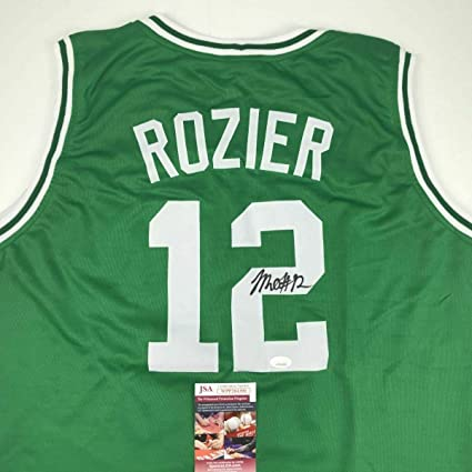 brand new 7874c 4b378 Autographed Terry Rozier Jersey - Green COA - JSA Certified ...