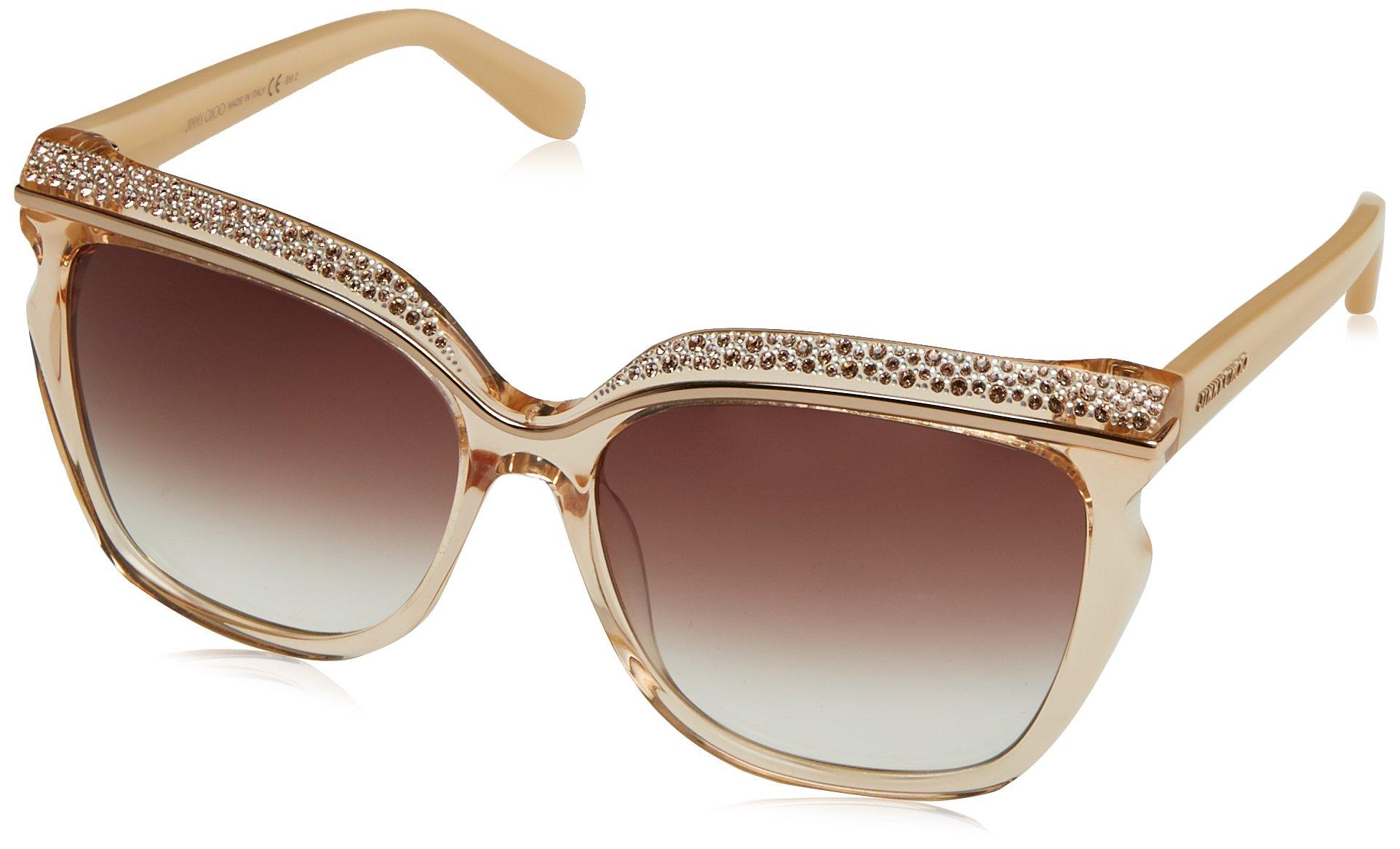 Jimmy Choo Sophia/S DLN FM Nude Beige Sunglasses 58mm