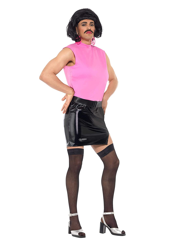 Smiffy s 43192 M Reina Break Free ama de casa disfraz, rosa/negro, mediano, 38 – 40-inch
