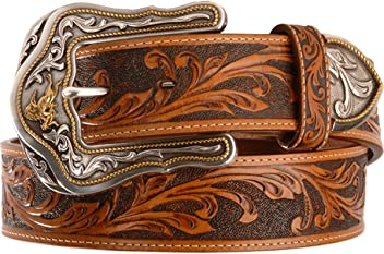 Tony Lama Mens Westerly Ride Leather Belt Reg And Big Tan 32