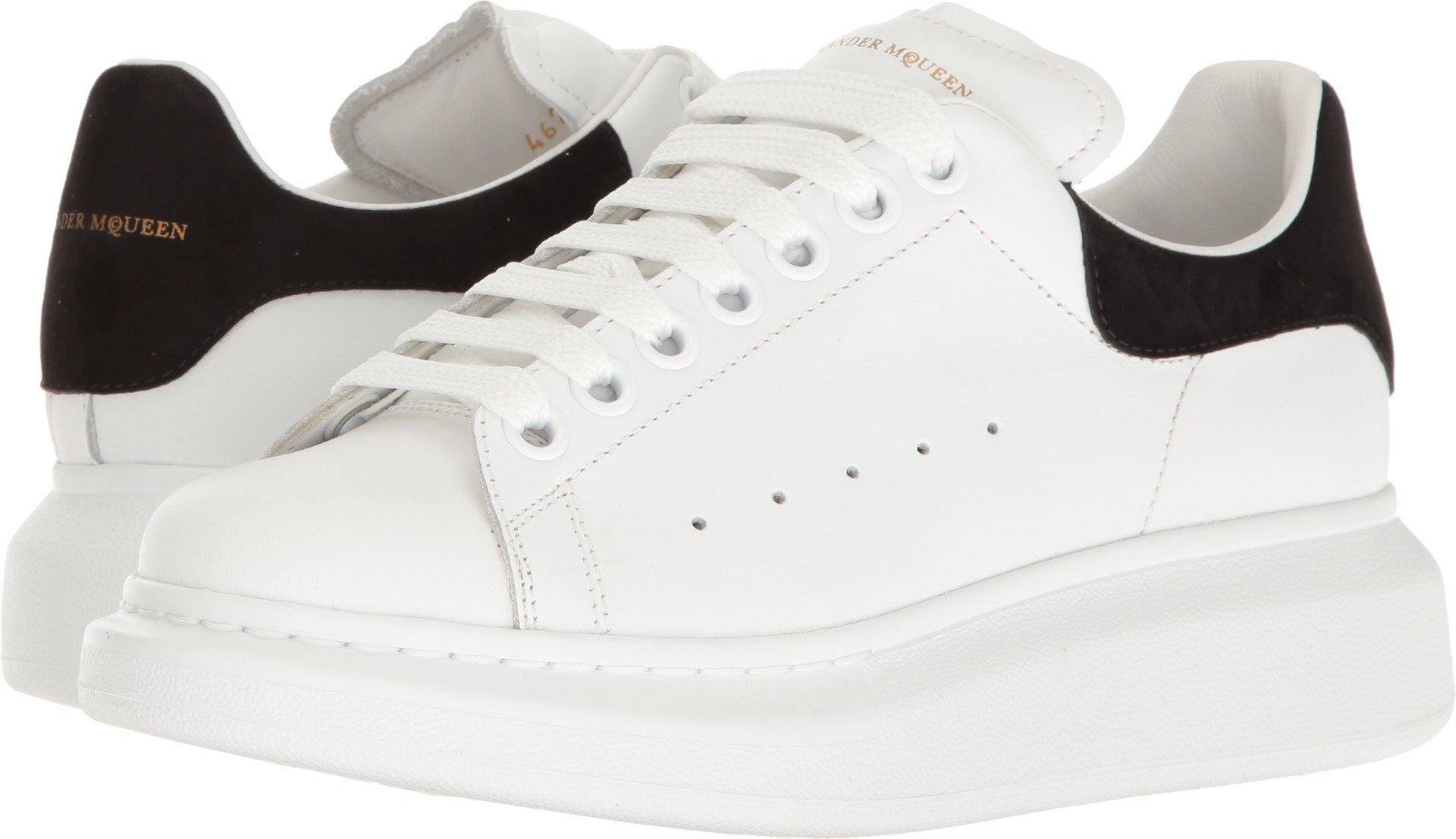 Alexander McQueen Women's Lace-Up Sneaker White/Black 36.5 M EU