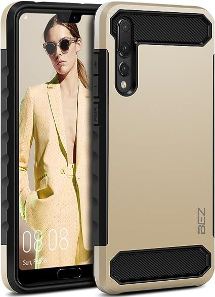 BEZ Cover Huawei P20 Pro, Custodia Compatibile per Huawei P20 Pro, Custodia Antiurto Rigida Protettiva con Impact [Assorbimento-Urto] Bumper ...