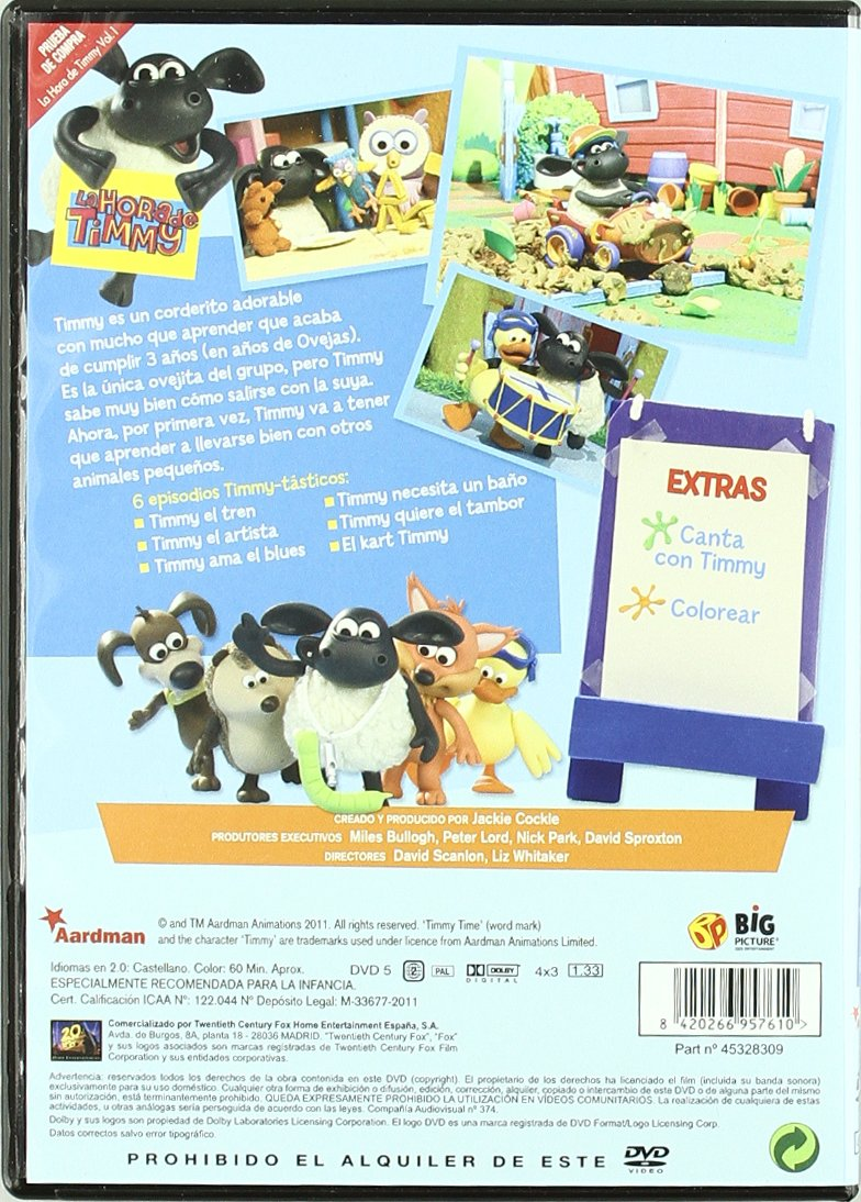 Pack La Hora Timmy Vols. 1 Y 2 [DVD]: Amazon.es: Animación, Jackie Cockle, Animación, Jackie Cockle: Cine y Series TV