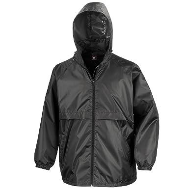 9c4126d8593 Result Mens Core Lightweight Waterproof Shield Windproof Jacket (XS) (Black)