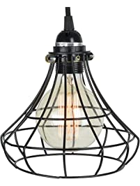 unique sphere cage industrial style pendant lamp by includes 15u0027 plugin fabric