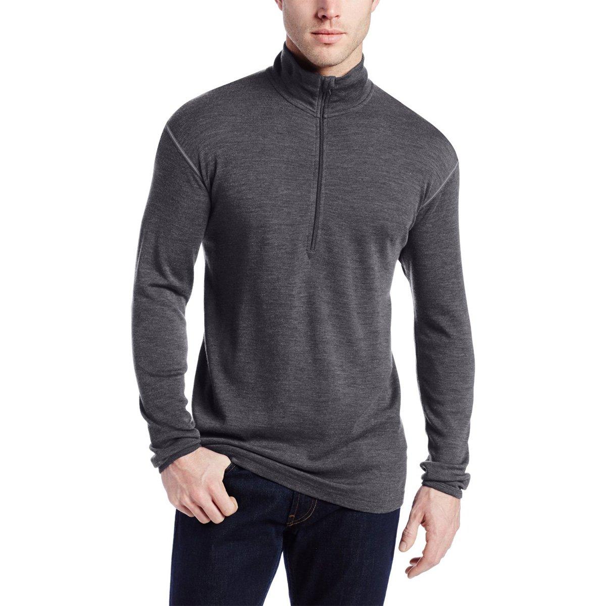 Minus33 Merino Wool Men's Isolation Midweight 1/4 Zip, Charcoal Grey, X-Large