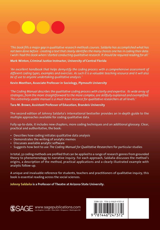 The Coding Manual For Qualitative Researchers: Johnny Saldana:  8601200577846: Books - Amazon.ca