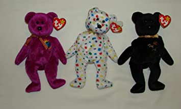 Amazon.com  Ty Beanie Babies Lot of 3 Millennium Bears Retired - All Mint  with Tags  Sports Collectibles 3a7e45a152bc