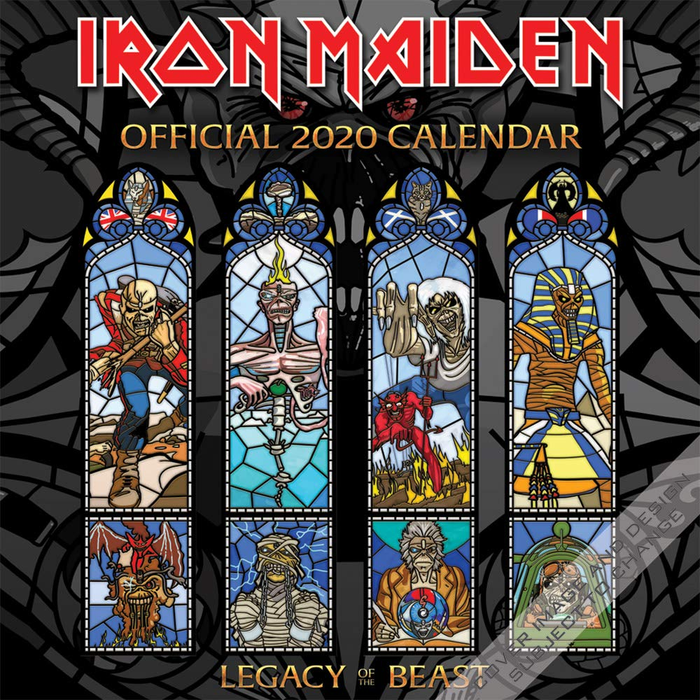 Iron Maiden Tour 2020.Iron Maiden 2020 12 X 12 Inch Monthly Square Wall Calendar