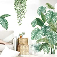 Pegatinas de Pared Planta Tropicales,Pegatinas de Pared Hoja de Banana,Planta Tropical Hoja de Tortuga Etiqueta de La…