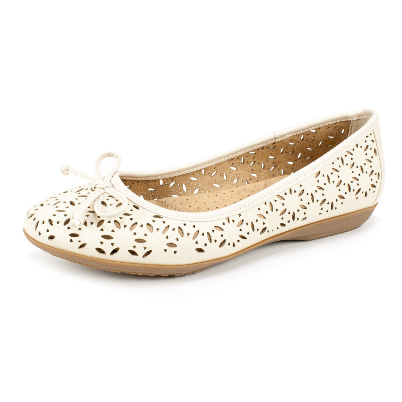 CLIFFS BY WHITE MOUNTAIN Shoes CATE Women's Flat B07CF7KKN9 11 B(M) US|Ice