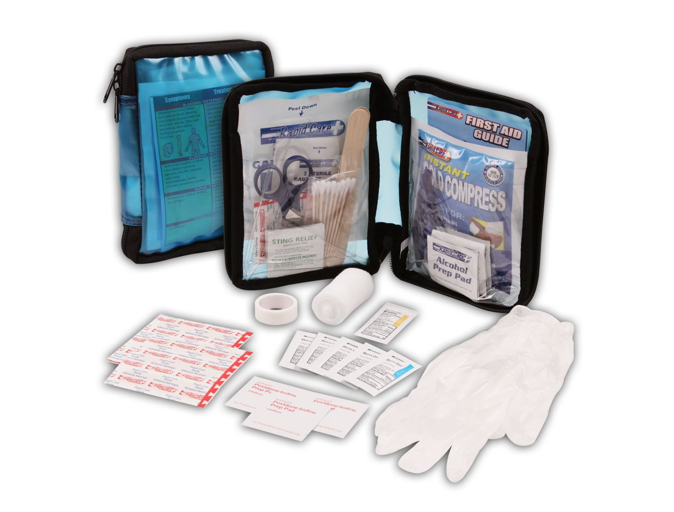 Rapid Care First Aid 80060-SP-115 All Purpose First Aid Kit, Soft Case with Zipper, 115 Pieces