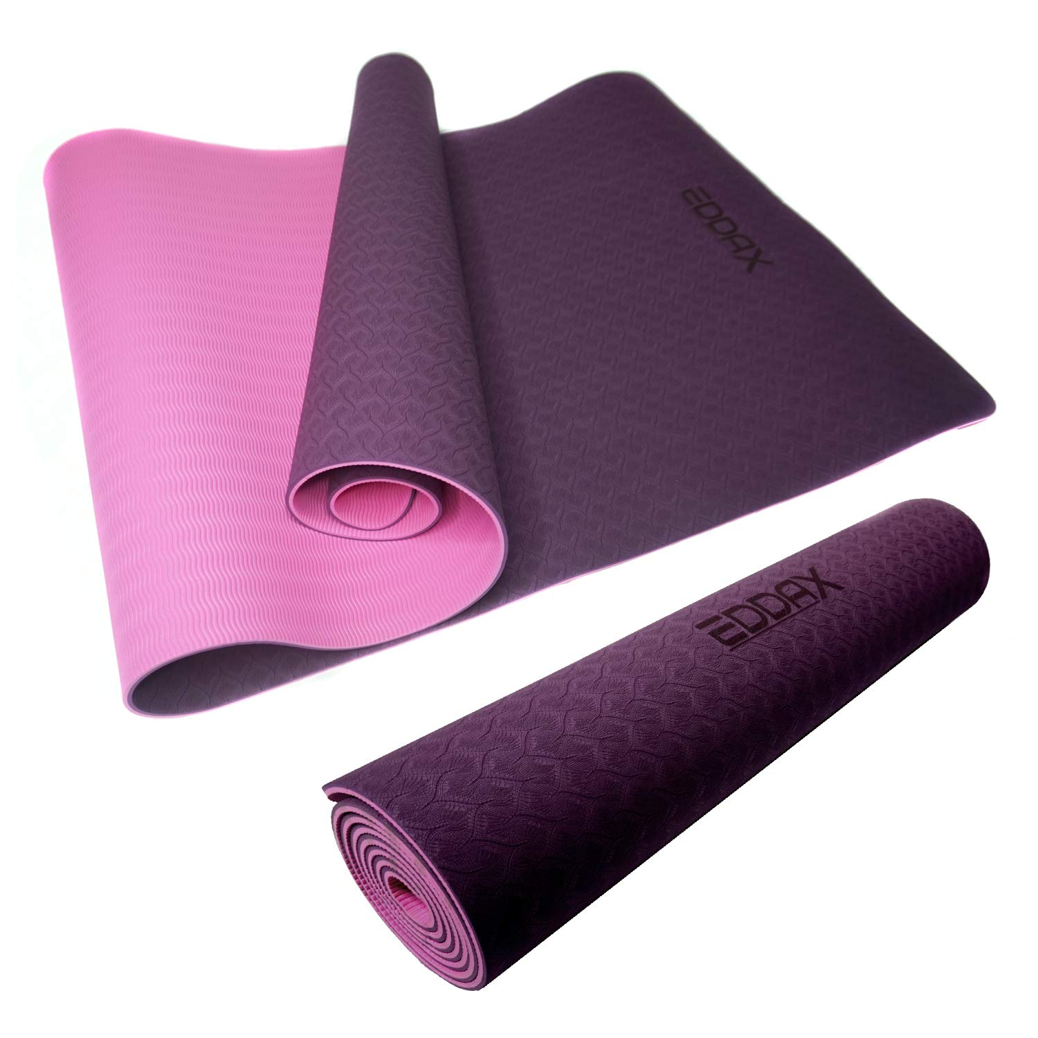 Eddax Eco Friendly Non Slip Yoga Mat, Exercise Anti-Tear Workout Mat for Pilates Yoga Fitness, Thickness 1/4 Durable Mat 72