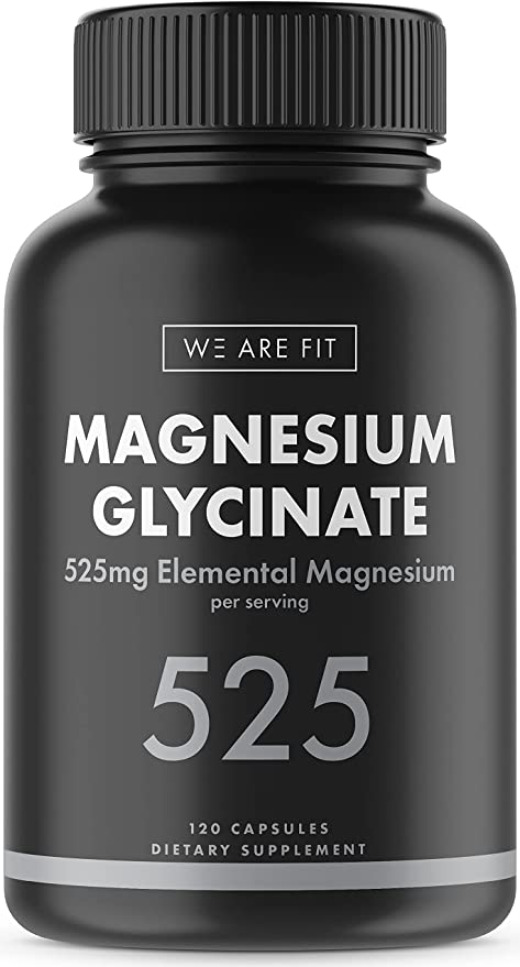 Magnesium Glycinate 525 mg Elemental Complex -125% DV High Absorption Bioavailable Supplement to Support Magnesium Levels, Muscle Relaxation, Vegan & Non-GMO, 120 Veggie Caps