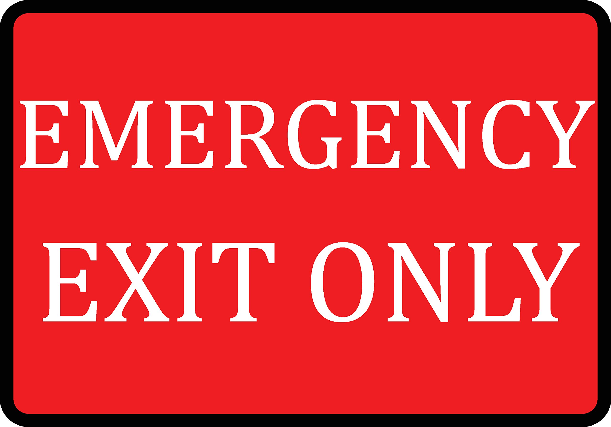Red Emergency Exit Only Sign - Business Fire Signs