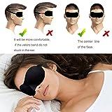 TANGCISON Eye Mask Sleep Mask, 2 Pack 3D Eye Mask