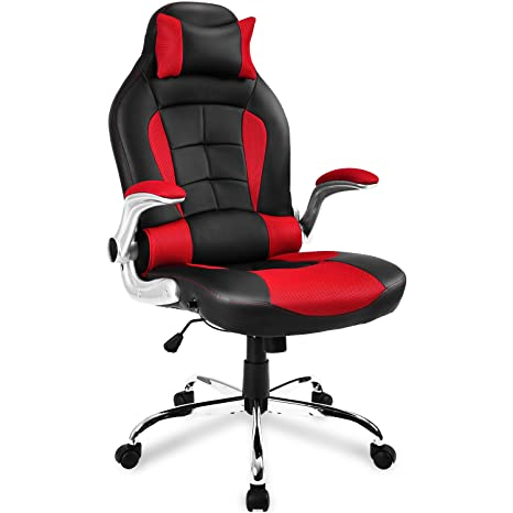LIFE CARVER High-back ergonómico PU silla giratoria para ordenador soporte lumbar silla reclinable silla
