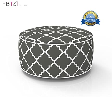 Superbe FBTS Prime Outdoor Inflatable Ottoman Grey Round Patio Foot Stools And  Ottomans Suitable For Kids And