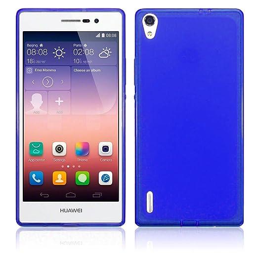 14 opinioni per TBOC® Custodia Gel TPU Blu per Huawei Ascend P7 in Silicone Ultra Sottile e