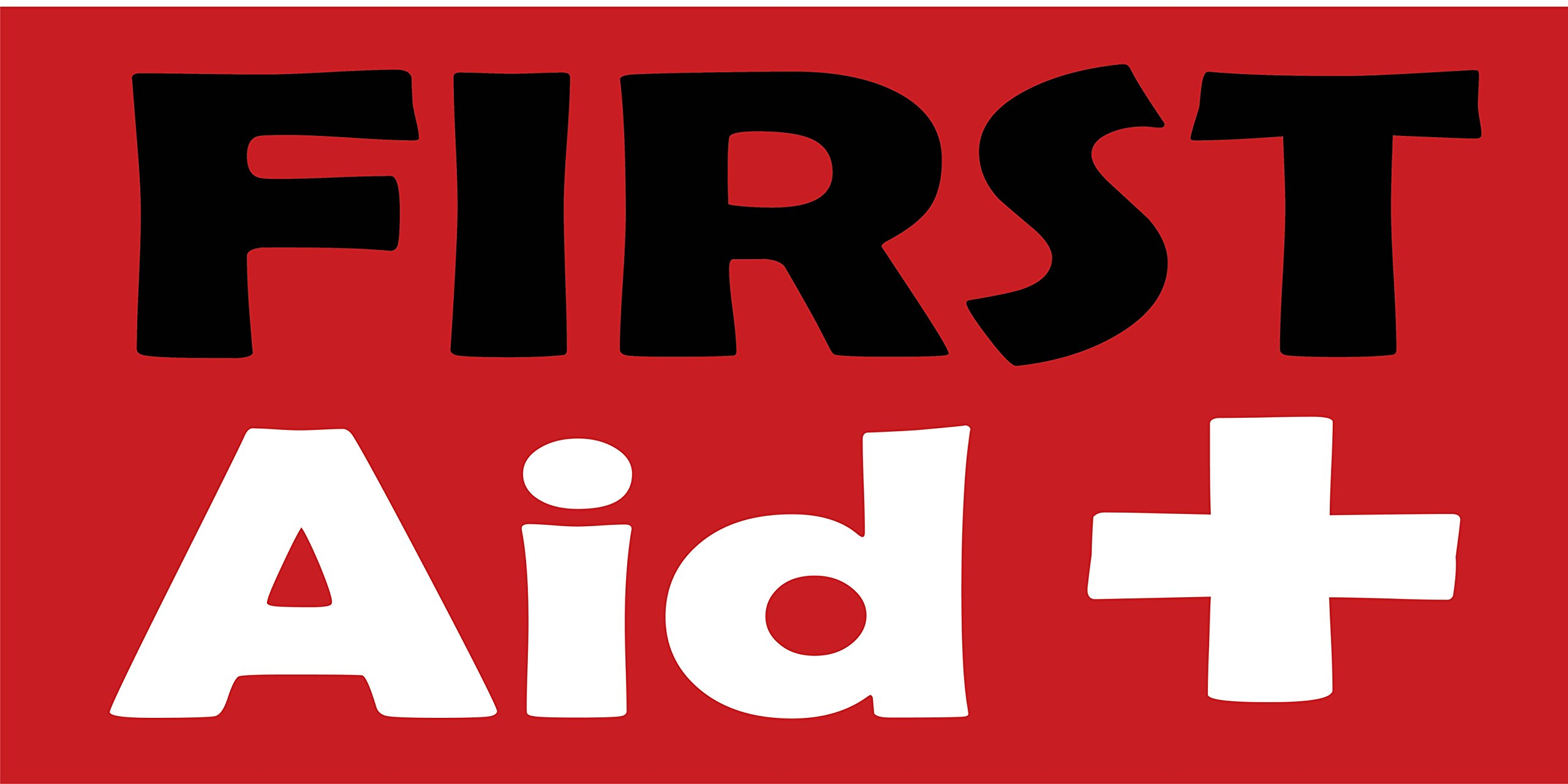 Pre-Printed - First Aid Banner - Red4 (10' x 5')