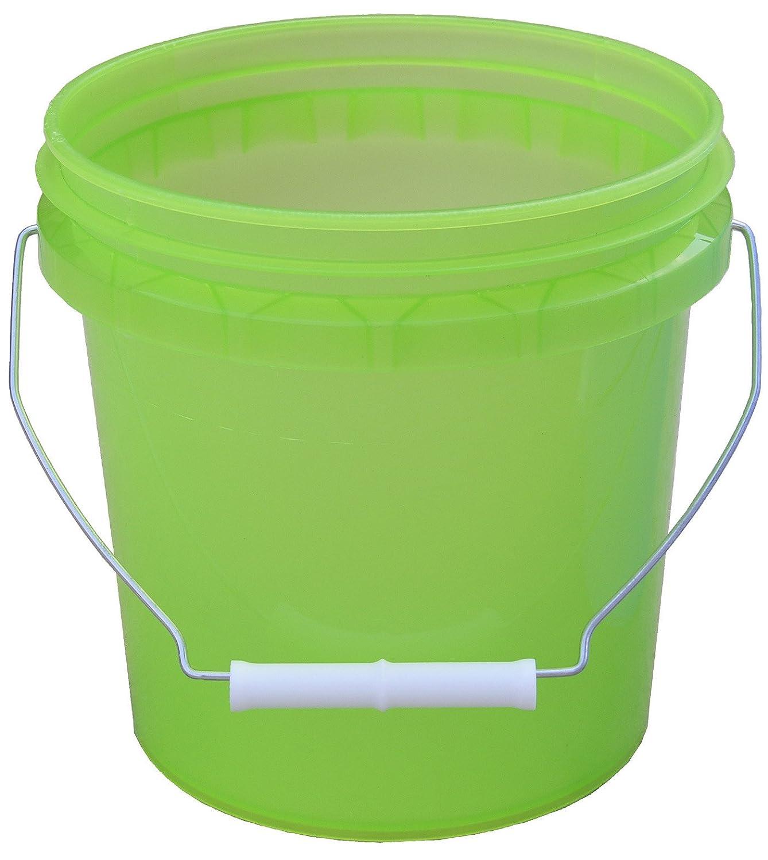 Encore Plastics 11128 Translucent Plastic Pails with Handle, 1-Gallon, Assorted Colors ZipWall