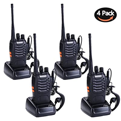 Walkie Talkies for Adults Rechargeable Wireless Walkie Talkies Long Range Two Way Radios with Earpiece Charger included(Pack of 4)