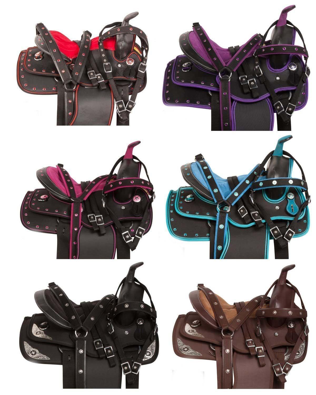 Y & Z Enterprises合成Western Horseサドルバレルracingtackサイズ15