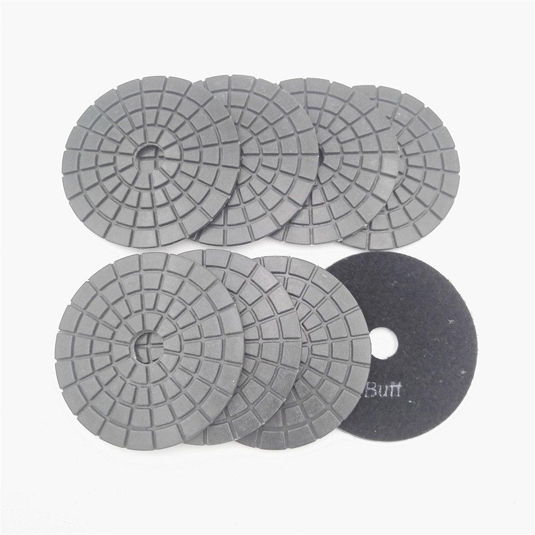 8pcs/set Professional polishing pads for marble & granite Diameter 4''/100mm wet sanding discs (8pcs Black Buff)