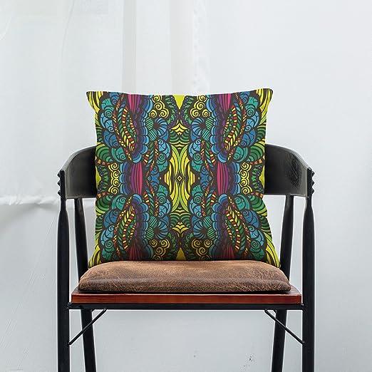 YOUFUSH Hogar Creativo Almohada geométrica Abstracta algodón ...