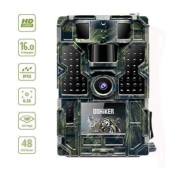 Dohiker Cámara de Caza Gran Angular de 120°y 16MP y 1080P Trail cámara 48