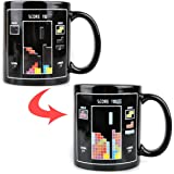 UCEC Heat Sensitive Color-changing Magic Coffee Mug - Tetris Game - With Mr. Tea Stainer