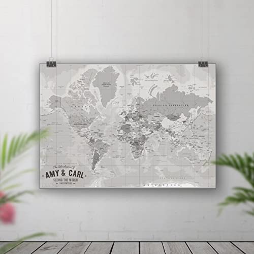 World map pin board, Places we\'ve been map, Push pin travel map ...