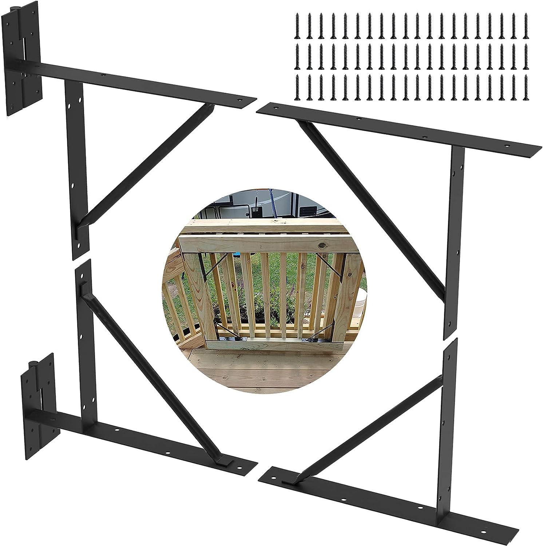 Gate Corner Brace Bracket Heavy Duty Wood Fence No Sag Gate Kit Gate Bracket for Shed Doors, Driveway Gates, Corral Gates, Wood Windows