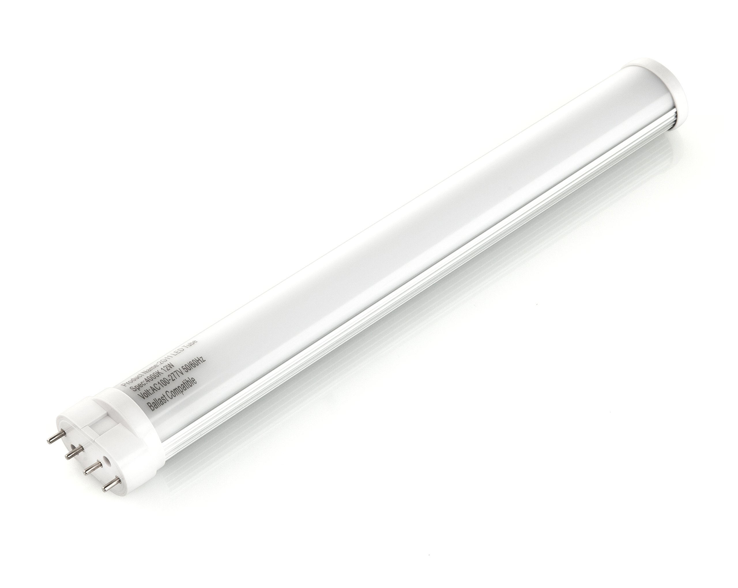 Hyperikon LED 2G11 Light, 12W (24W Fluorescent Equivalent), 12.6 inches, 1220 lumen, 5000K (Crystal White Glow), 120-277v, Ballast Compatible